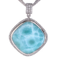marahlago Clarity Cushion Large Larimar Necklace