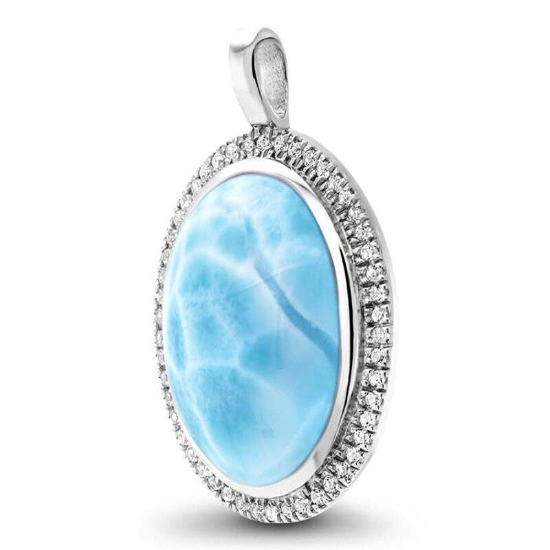 marahlago larimar Clarity Oval Larimar Necklace jewelry