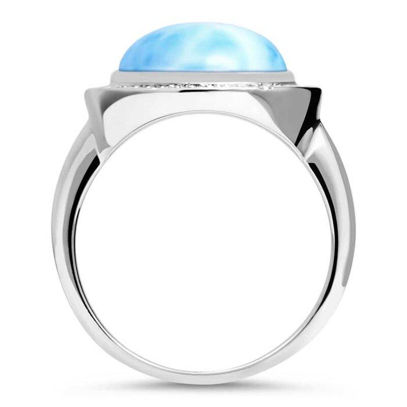 marahlago larimar Clarity Oval Larimar Ring jewelry