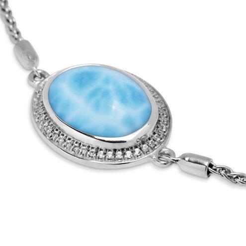 Clarity Oval Larimar Bracelet