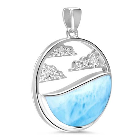 marahlago larimar Cloud Larimar Necklace jewelry