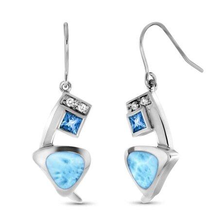 marahlago larimar Curva Larimar Earrings jewelry
