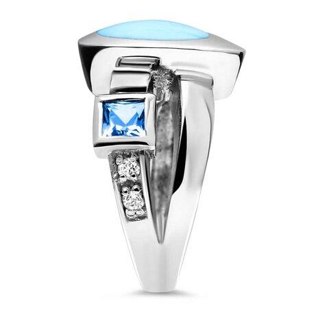 marahlago larimar Curva Larimar Ring jewelry