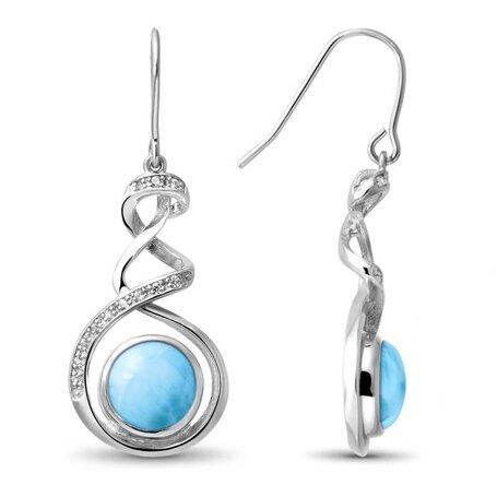 marahlago larimar Dante Larimar Earrings jewelry