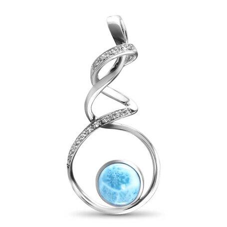 marahlago larimar Dante Large Necklace jewelry