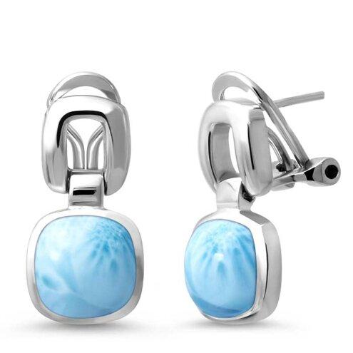 Del Mar Larimar Earrings