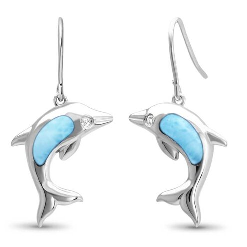 Dolphin Larimar Earrings