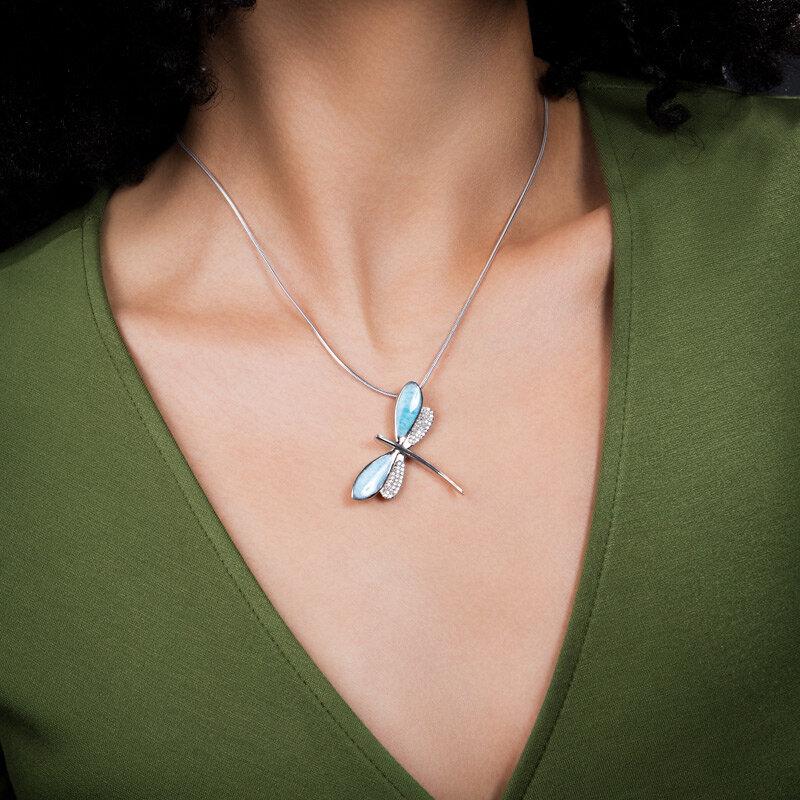marahlago larimar Dragonfly Larimar Necklace jewelry