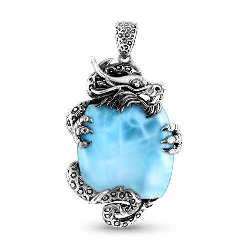 Dragon Larimar Necklace