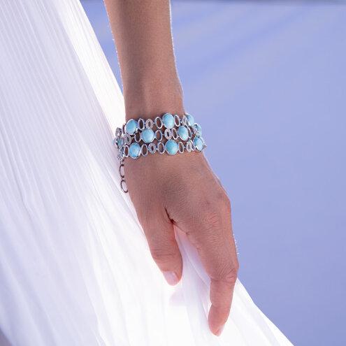 Eclipse Larimar Bracelet
