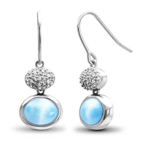 marahlago larimar Eclipse Larimar Earrings jewelry