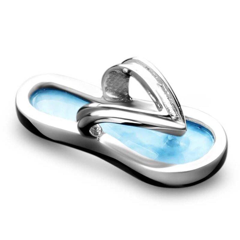 marahlago larimar Flip Flop Larimar Necklace jewelry