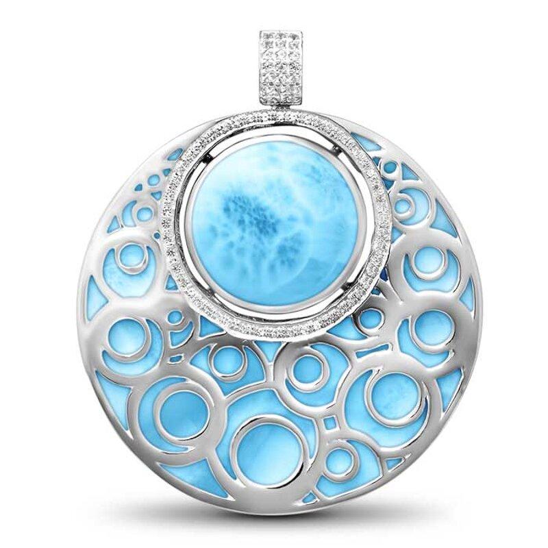 marahlago larimar Flora Filigree Larimar Necklace jewelry