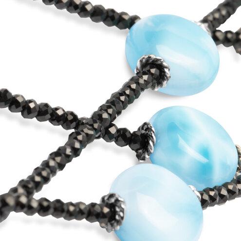 Galaxy Multi Strand Larimar Necklace