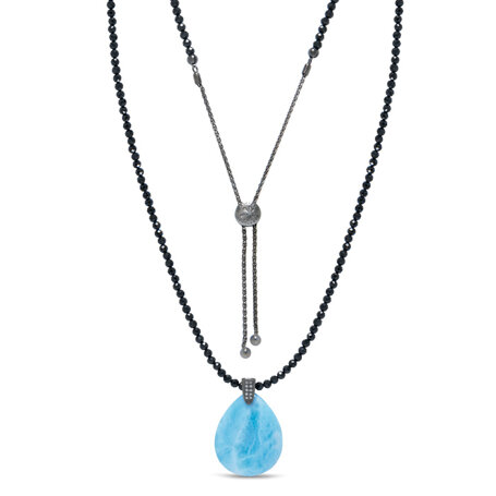 marahlago larimar Galaxy Larimar Necklace jewelry