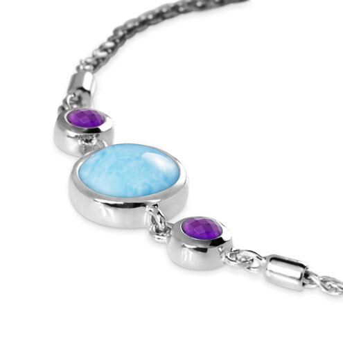 Hideaway Amethyst Larimar Bracelet