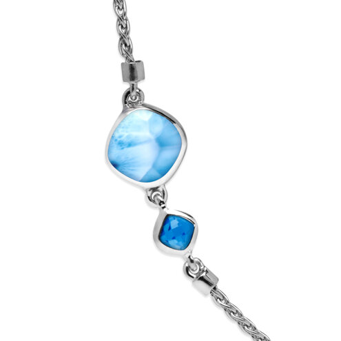 Hideaway Blue Spinel Larimar Necklace