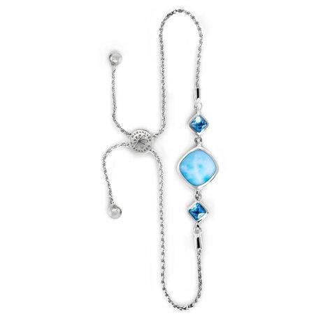 marahlago larimar Hideaway Blue Spinel Larimar Bracelet jewelry