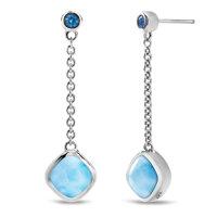 marahlago Hideaway Blue Spinel Larimar Earrings