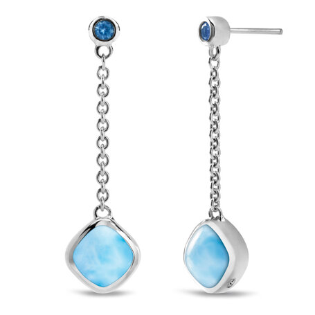 marahlago larimar Hideaway Blue Spinel Larimar Earrings jewelry