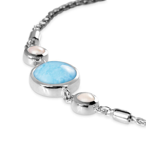 Hideaway Pearl Larimar Bracelet