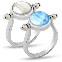 marahlago Hideaway Pearl Larimar Ring