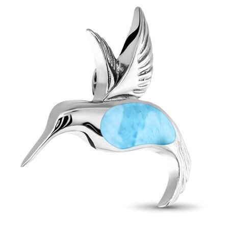 marahlago larimar Hummingbird Larimar Necklace jewelry