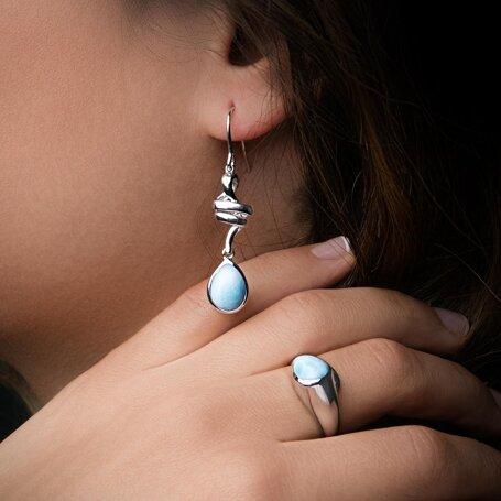 marahlago larimar Hydra Larimar Earrings jewelry