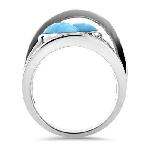 Indigo Larimar Ring