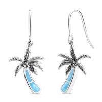 marahlago Palm Tree Larimar Earrings
