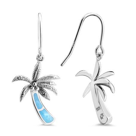 marahlago larimar Palm Tree Larimar Earrings jewelry