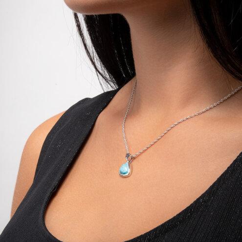 Spectral Larimar Necklace