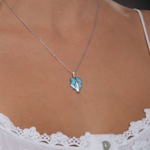 Fall Larimar Necklace