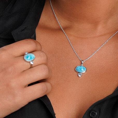 marahlago larimar Naples Larimar Necklace jewelry