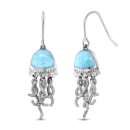 marahlago larimar Jellyfish Larimar Earrings jewelry
