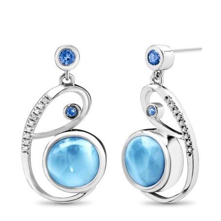 marahlago larimar Mia Larimar Earrings jewelry