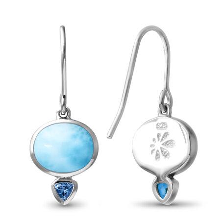marahlago larimar Naples Larimar Earrings jewelry