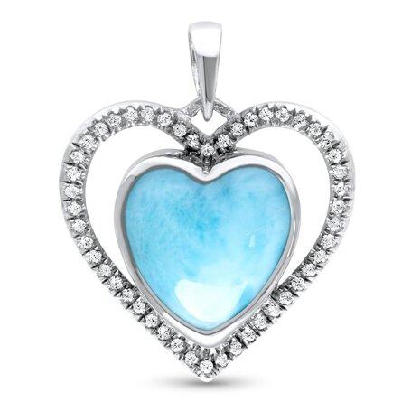 marahlago larimar Infinity Heart Necklace jewelry