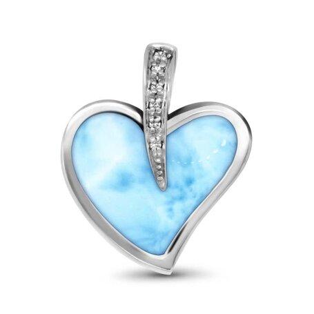 marahlago larimar Pezullio Heart Larimar Necklace jewelry