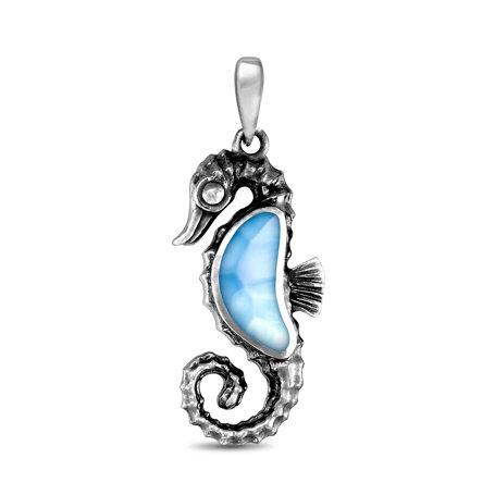 marahlago larimar Seahorse Pendant jewelry