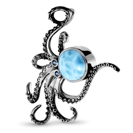 marahlago larimar Octopus Larimar Necklace jewelry