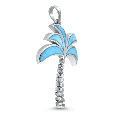 Oxidized Palm Tree Pendant