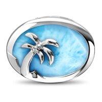 marahlago Palm Tree Larimar Necklace