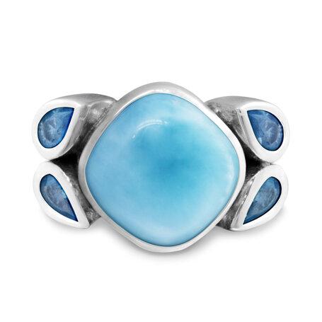 marahlago larimar Papillon Larimar Ring jewelry