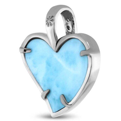 Pezullio Heart Larimar Necklace