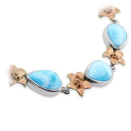 marahlago larimar Plumeria Larimar Bracelet jewelry