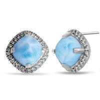 marahlago Radiance Cushion Larimar Earrings