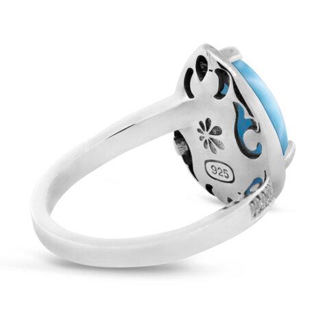 marahlago larimar Radiance Pear Larimar Ring jewelry
