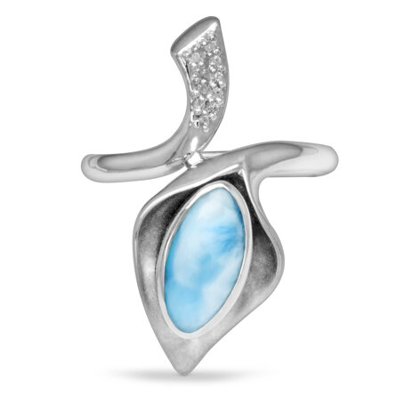 marahlago larimar Calla Larimar Ring jewelry