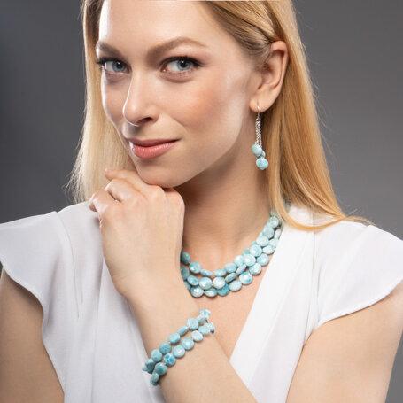 marahlago larimar Seafoam Larimar Bracelet jewelry